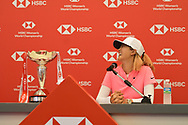 SINGAPORE - MARCH 04: Michelle Wie during her press conference at the HSBC Women's World Championship 2018 at Sentosa Golf Club, Singapore on March 04, 2018.<br /> .<br /> .<br /> .<br /> (Photo by: Naratip Golf Srisupab/SEALs Sports Images)<br /> .<br /> Any image use must include a mandatory credit line adjacent to the content which should read: Naratip Golf Srisupab/SEALs Sports Images