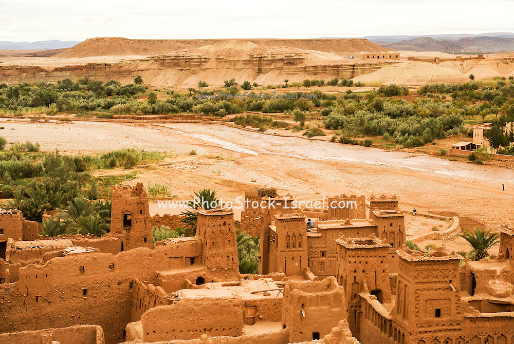 Mud houses in the village of Ait Benhaddou, Morocco