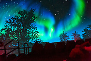 "Oct 4, 2012 - GARDEN CITY, NEW YORK U.S. - At the new JetBlue Sky Theater Planetarium at Cradle of Aviation Museum, Nassau County students watched ""We Are Astronomers"" a digital planetarium show, which included the aurora borealis, also known as northern lights. The planetarium, a state-of-the-art digital projection system, officially opens this weekend."