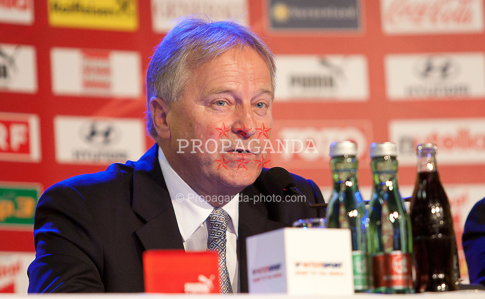 04.10.2011, Oberwart, AUT, OeFB, Praesentation Nationalteam Trainer, im Bild Leo Windtner // during the presentation of the new OeFB coach in Oberwart, AUT, on 2011-10-04, EXPA Pictures © 2011, PhotoCredit: EXPA/ Erwin Scheriau