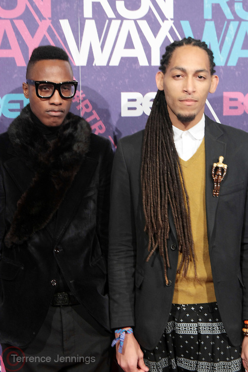 New York, NY- FEBRUARY 29:  (L-R) Fashion Designers James Field and Sergio Wonder  at the BET Rip The Run Way held at the Hammerstein Ballroom on February 29, 2012 in New York City. Photo Credit: Terrence Jennings