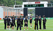 New Zealand Cricket team gather together before there one day test against Zimbabwe, Black Caps Training Session, at the University oval, Dunedin, New Zealand. Thursday 2 February 2012 . Photo: Richard Hood photosport.co.nz