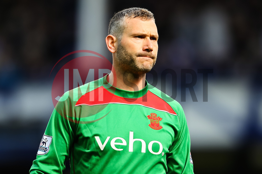 Southampton goalkeeper, Kelvin Davis  - Photo mandatory by-line: Matt McNulty/JMP - Mobile: 07966 386802 - 04/04/2015 - SPORT - Football - Liverpool - Goodison Park - Everton v Southampton - Barclays Premier League