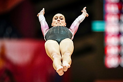 October 28, 2018 - Doha, Quatar - Mette Hulgaard of  Denmark   during  Vault qualification at the Aspire Dome in Doha, Qatar, Artistic FIG Gymnastics World Championships on 28 of October 2018. (Credit Image: © Ulrik Pedersen/NurPhoto via ZUMA Press)