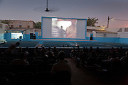 A screening at the Ciné Ourbi open-air cinema during FESPACO film festival in Ouagadougou, Burkina Faso