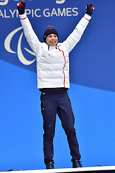 BAUCHET_Arthur, ParaSkiAlpin, Para Alpine Skiing, Super G, Podium at PyeongChang2018 Winter Paralympic Games, South Korea.