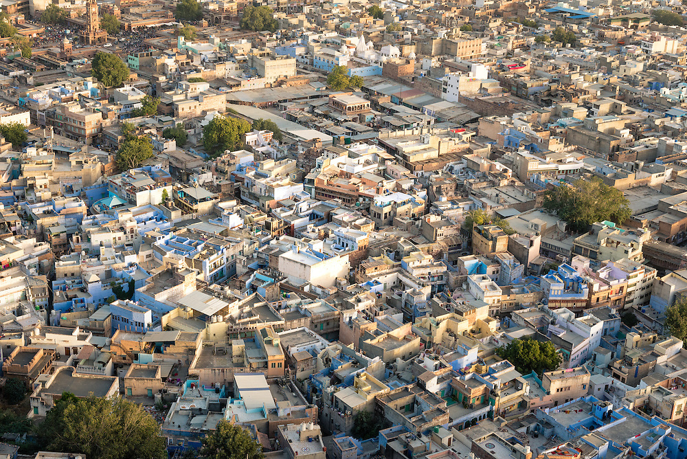 Jodhpur rooftops at sunset