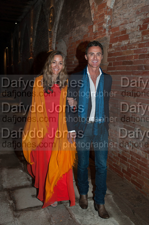 DANIELA FEDERICI; ANTONY TODD, Andrea Dibelius of the EMDASH Foundation hosts party to celebrate the Austrian Pavilion and artist Mathias Poledna at the Venice Biennale. Palazzo Barbaro, Venice. 30 May 2013<br /> <br /> <br /> Venice. Venice Bienalle. 28 May 2013