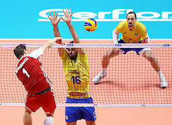 September 30, 2018 - Turin, Italy - Poland v Brazil - FIVP Men's World Championship Final.Lucas Saatkamp of Brazil at Pala Alpitour in Turin, Italy on September 30, 2018. (Credit Image: © Matteo Ciambelli/NurPhoto/ZUMA Press)
