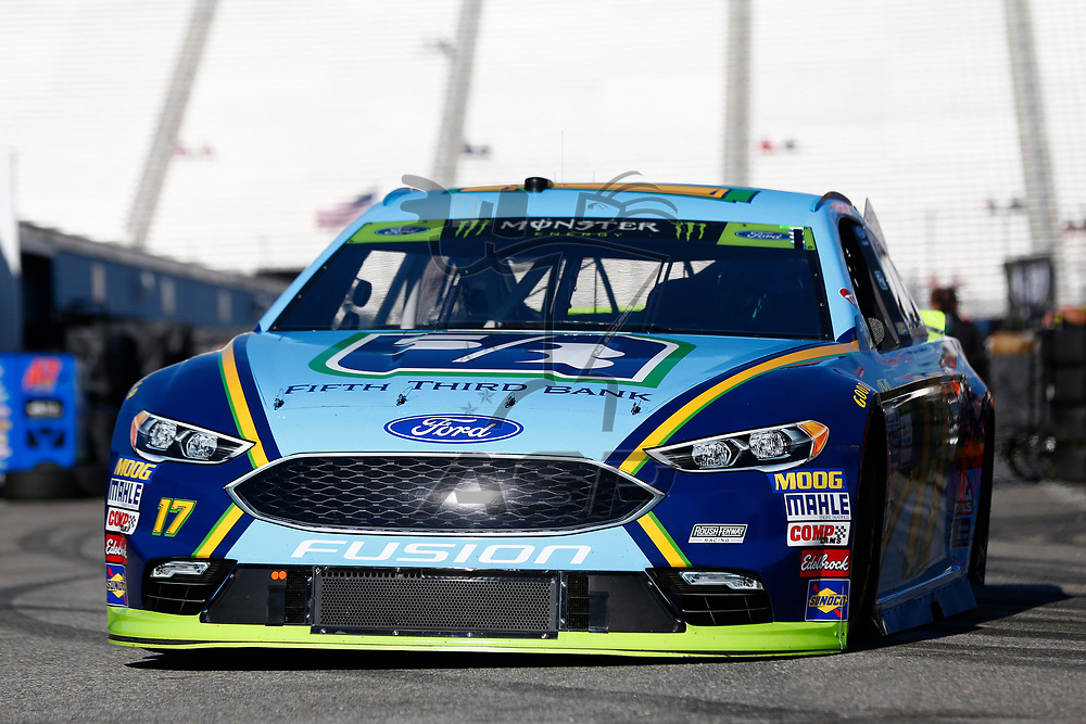 September 23, 2017 - Loudon, New Hampshire, USA: Ricky Stenhouse Jr (17) takes to the track to practice for the ISM Connect 300 at New Hampshire Motor Speedway in Loudon, New Hampshire.