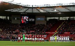 A minutes applause is observed for Ugo Ehiogu who died suddenly last week - Mandatory by-line: Robbie Stephenson/JMP - 26/04/2017 - FOOTBALL - Riverside Stadium - Middlesbrough, England - Middlesbrough v Sunderland - Premier League