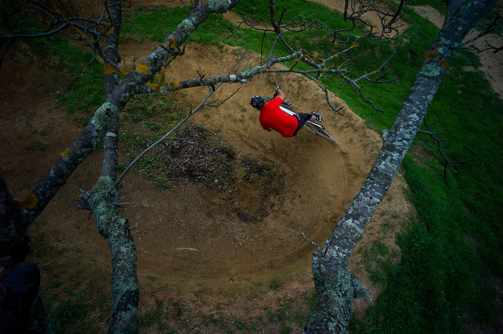 Mark Weir, backyard pump track, Novato, California.