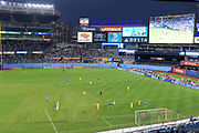 Genreal overrall view of Yankee Stadium during a MLS soccer match between the Columbus Crew and the New York City FC, Wednesday, Aug. 21, 2019, in New York (Errol Anderson/Image of Sport)