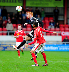 Bristol City's Ryan Taylor heads the ball on - Photo mandatory by-line: Dougie Allward/JMP - Tel: Mobile: 07966 386802 19/10/2013 - SPORT - FOOTBALL - Alexandra Stadium - Crewe - Crewe V Bristol City - Sky Bet League One