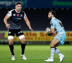 2nd November, Liberty Stadium , Swansea, Wales ; Guinness pro 14's Ospreys Rugby v Glasgow Warriors ;  Nick Frisby of Glasgow Warriors<br /> <br /> Credit: Simon King/News Images<br /> <br /> Photographer Simon King/Replay Images<br /> <br /> Guinness PRO14 Round 8 - Ospreys v Glasgow Warriors - Friday 2nd November 2018 - Liberty Stadium - Swansea<br /> <br /> World Copyright © Replay Images . All rights reserved. info@replayimages.co.uk - http://replayimages.co.uk