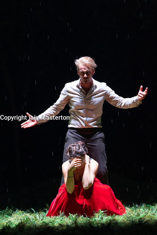 Dress rehearsal performance of Tchaikovsky's opera Eugene Onegin by the Komische Oper Berlin in the Festival Theatre as part of the Edinburgh International Festival. <br /> Komische 14 Aug 2019 ++ Editorial Use Only ++