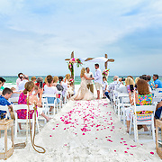 Rubino-Hall Beach Wedding Photos