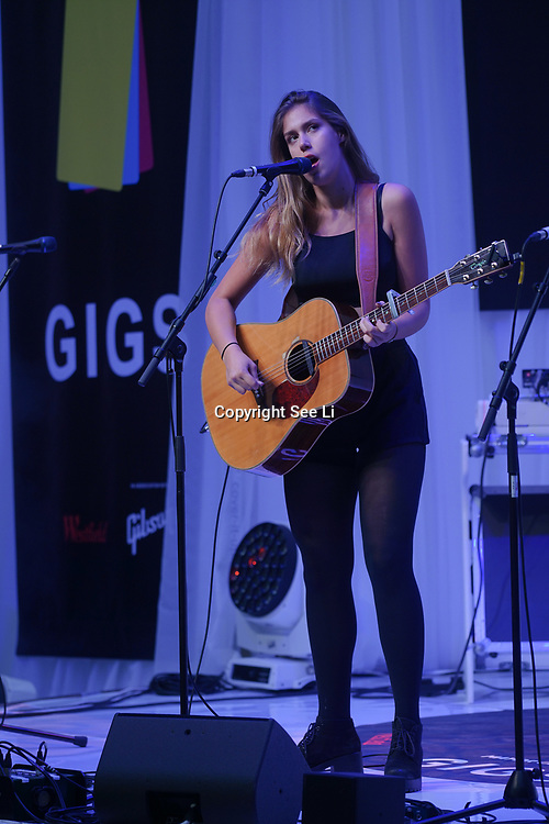 London, UK. 3rd September 2017. Specail guest Natalie Shay two time winner in 2012 & 2015 preforms at the Mayor Of London Gigs at Westfield London.