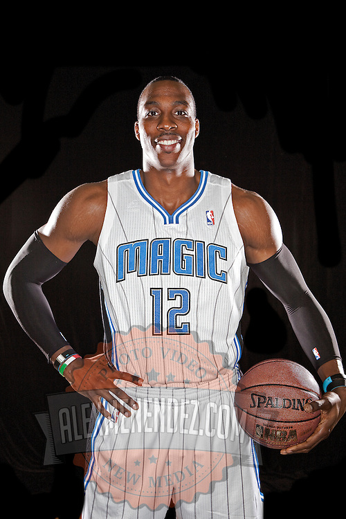 Dwight Howard of the Orlando Magic media day at the Amway Center in downtown Orlando, Florida.