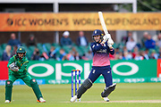 England womens cricket player Natalie Sciver  with a boundary during the ICC Women's World Cup match between England and Pakistan at the Fischer County Ground, Grace Road, Leicester, United Kingdom on 27 June 2017. Photo by Simon Davies.