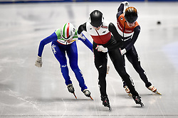 February 9, 2019 - Torino, Italia - Foto LaPresse/Nicolò Campo .9/02/2019 Torino (Italia) .Sport.ISU World Cup Short Track Torino - Ladies 500 meters Quarterfinals .Nella foto: Martina Valcepina, Natalia Maliszewska, Yara van kerkhof..Photo LaPresse/Nicolò Campo .February 9, 2019 Turin (Italy) .Sport.ISU World Cup Short Track Turin - Ladies 500 meters Quarterfinals.In the picture: Martina Valcepina, Natalia Maliszewska, Yara van kerkhof (Credit Image: © Nicolò Campo/Lapresse via ZUMA Press)