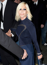 Donatella Versace attending the Harper's Bazaar Woman of the Year awards at Claridges in London. Picture date: Monday October 31, 2016. Photo credit should read: Isabel Infantes / EMPICS Entertainment.