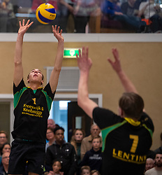 13-04-2019 NED: Prima Donna Kaas Huizen - Spaarnestad , Huizen<br /> Huizen win the match 3-2 and is the champion of the second division C / Michiel Koster #1 of PDK Huizen