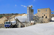 Polidano quarry producing limestone aggregates at Xaqqa, Malta