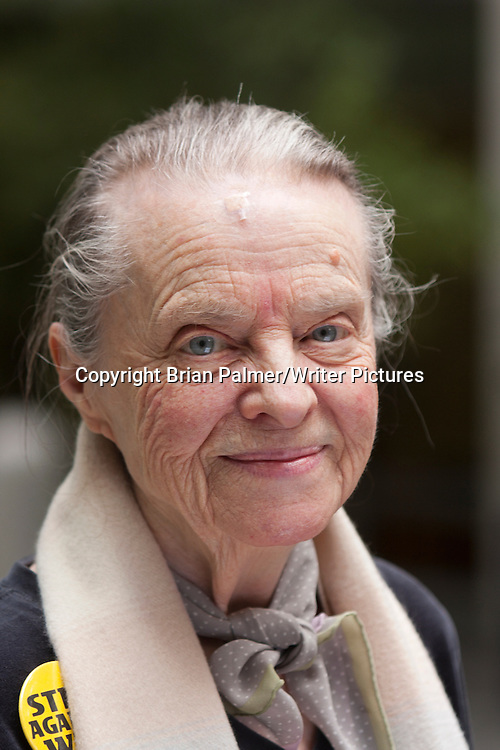 Marie Ponsot, n&eacute;e Birmingham, American poet, literary critic, essayist, teacher, and translator, after the annual Poets Forum, held by the Academy of American Poets at New School University, 30 October 2010. <br /> Photograph by Brian Palmer/Writer Pictures<br /> <br /> WORLD RIGHTS