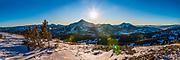 Lone Peak and the Madison Range in Southwest Montana.