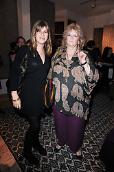 Left to right, KATE ELLIOT and MICHAELLA IRWIN at the opening of Luke Irwin's showroom at 22 Pimlico Road, London SW1 on 24th November 2010.