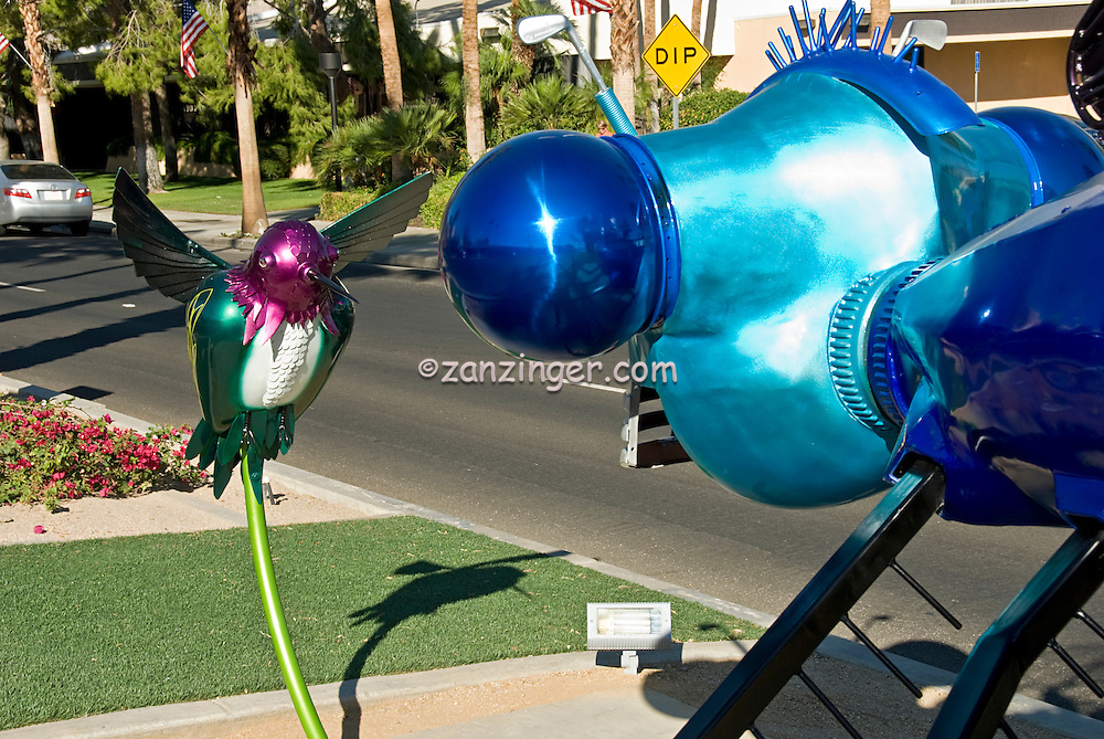 "Lt Mustardseed, ""Demoiselle and Timeless Joy"" Artwork, El Paseo, Palm Desert, CA,"