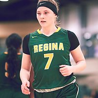 1st year guard, Gabby Kukura (7) of the Regina Cougars during the Women's Basketball Home Game on Sat Dec 01 at Centre for Kinesiology,Health and Sport. Credit: Arthur Ward/Arthur Images