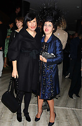 Left to right, ALICE RAWSTHORN and ISABELLA BLOW at a dinner hosted by Arnaud Bamber MD of Cartier, Amanda Sharp and Matthew Slotover Directors of the Frieze Art Fair to celebrate artists featured in the 2005 Frieze Art Fair Curatorial Programme at Nobu-Berkeley, 15th Berkeley Street, London on 21st October 2005.<br />