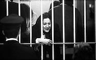 Roma 1987<br /> Aula bunker del Foro Italico<br /> Processo Moro-Ter alle Brigate Rosse. Maria Petrella