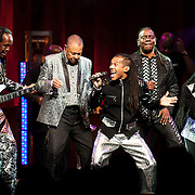 September 25, 2013 - New York, NY:<br /> The band Earth, Wind & Fire including, from left, Verdine White, Ralph Johnson, B. David Whitworth, Philip Bailey, and Philip Bailey, Jr., performs at the Beacon Theatre in Manhattan on Wednesday night.<br /> CREDIT: Karsten Moran for The New York Times