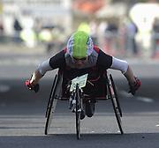 London Marathon, London, GREAT BRITAIN, location, Isle of Dogs. Wheel chair, Race No. 93066 PAULA. CRAIG (GBR) © Peter Spurrier/Intersport Image/+447973819551