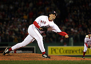Mike Myers, 2004 Boston Red Sox, make a run at history getting through a tough fight with the New York Yankees and then eventually sweeping the St. Louis Cardinals for the World Series title.