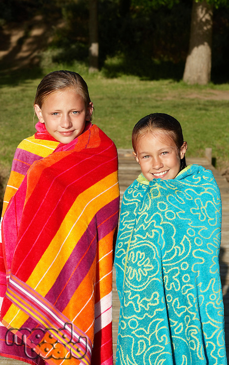 Two Girls in Beach Towels