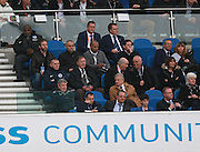Jose Mourinho watches from the Directors Box during the Sky Bet Championship match between Brighton and Hove Albion and Middlesbrough at the American Express Community Stadium, Brighton and Hove, England on 19 December 2015. Photo by Bennett Dean.