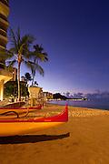 Sunrise, Waikiki Beach, Honolulu, Oahu, Hawaii