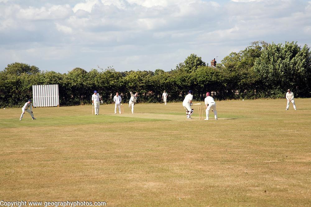 Cricket match, Bawdsey, Suffolk, England