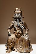 Kollanti, The God of War, bronze figurine in Manos Collection, Museum of Asian Art in Kerkyra, Corfu