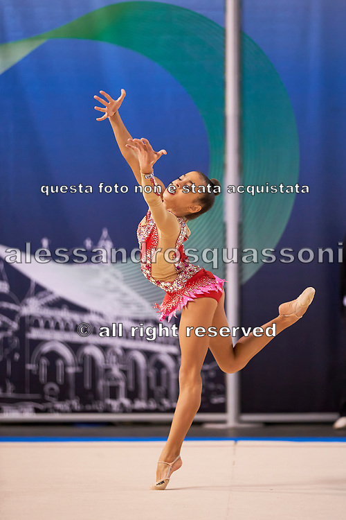 Carla Maghelli from Iris team during the Italian Rhythmic Gymnastics Championship in Padova, 25 November 2017.