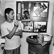 Guiellermo (last name not given), a journalist and teacher, discusses housing conditions for the students in Cuba's educational system.
