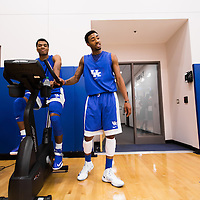 LEXINGTON, KY -- October 17, 2013 -- University of Kentucky Basketball, Orlando Antigua -- (PHOTO / CHIP LITHERLAND)
