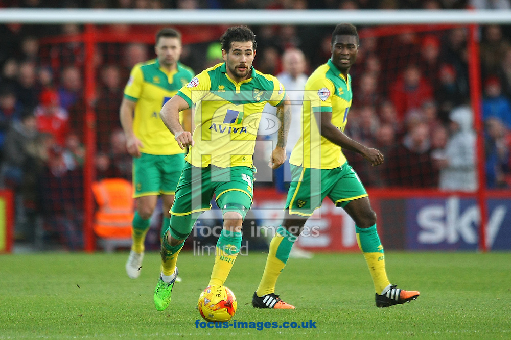 Bradley Johnson of Norwich in action during the match at the Goldsands Stadium, Bournemouth<br /> Picture by Paul Chesterton/Focus Images Ltd +44 7904 640267<br /> 10/01/2015