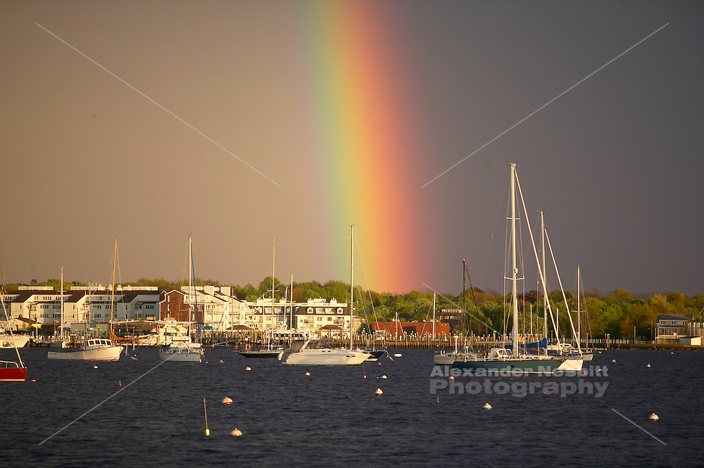 Rainbow over Newport Harbor, Newport RI