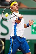 Paris, France. Roland Garros. June 1st 2013.<br /> Italian player Fabio FOGNINI against rafael NADAL