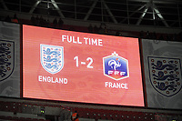 FOOTBALL - INTERNATIONAL FRIENDLY GAME - ENGLAND v FRANCE - 17/11/2010 - PHOTO JEAN MARIE HERVIO / DPPI - SCOREBOARD